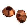 Metal Rondelle (Flat Round) 5mm Antique Copper (brass Base)